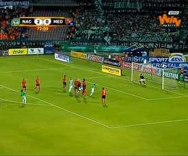 VIDEO: Sherman Cárdenas free-kick goal in the Clásico Paisa. DUGOUT