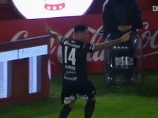 Pablo Álvarez anotó un gran gol ante Atlético Tucumán. DUGOUT