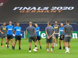 Inter trained before the match. DUGOUT