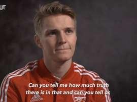 Martin Odegaard has spoken after joining Arsenal. DUGOUT