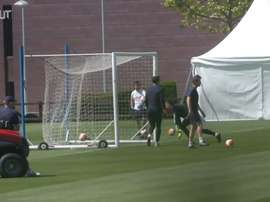 Chelsea are taking part in contact training. DUGOUT