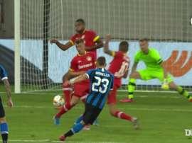 Lukaku e Barella mandano l'Inter in semifinale di Europa League. Dugout