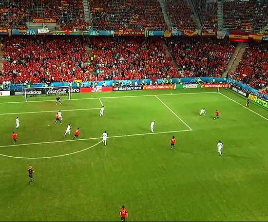 Güiza scored this goal for Spain. DUGOUT