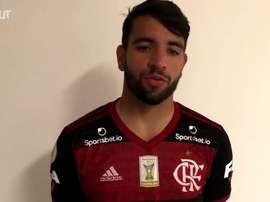 Pepê concedeu entrevista após vitória sobre o Palmeiras. DUGOUT