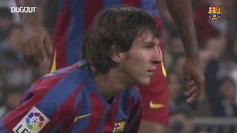 19 de novembro de 2005 foi o dia da estréia de Lionel Messi no grande clássico espanhol. DUGOUT