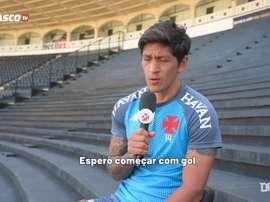 Germán Cano já marcou nove gols em 13 jogos disputados pelo Vasco. DUGOUT