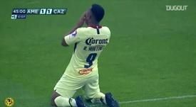 Martínez scored two for Club América. DUGOUT