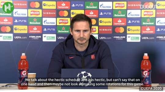 Lampard speaks ahead of Sevilla match. DUGOUT