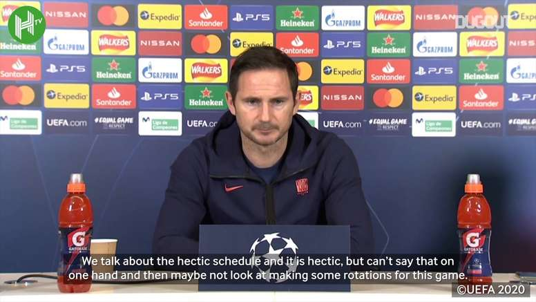Lampard speaks ahead of Sevilla match. DUGOUT