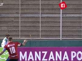 Juanfer Quintero marcó un auténtico golazo de falta. Dugout