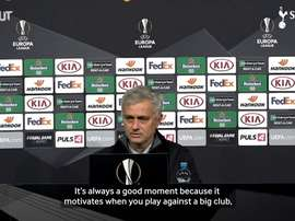 Mourinho speaks ahead of match. DUGOUT