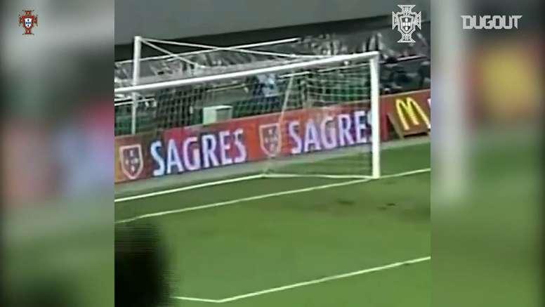 Il primo goal di Quaresma con la nazionale portoghese. Dugout