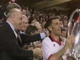 Il Milan vinse per 4-0. Dugout