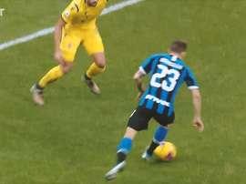 Nicolo Barella gave Inter a come from behind win versus Verona. DUGOUT