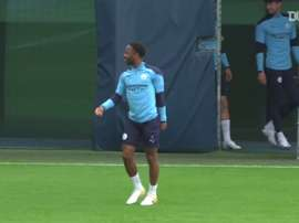 City trained before the Madrid match. DUGOUT