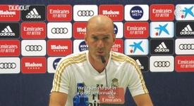 Zidane spoke to the media. DUGOUT