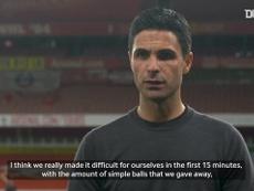 Arteta talks about improvements he'd like to see.