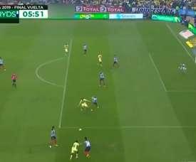 Federico Viñas's great turn and finish vs Monterrey. DUGOUT