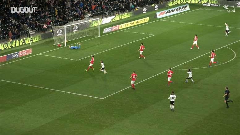 Marriott feeds Harry Wilson for superb goal against Middleborough. DUGOUT
