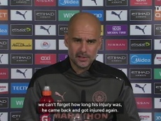 Pep Guardiola: I've never found a big star like Sergio Agüero. DUGOUT