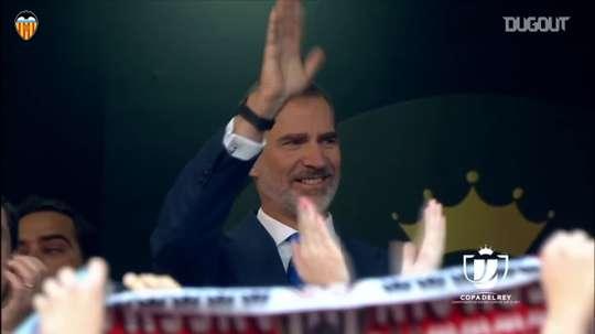 Valencia won the Copa del Rey. DUGOUT