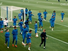 Chelsea had some fun at training. DUGOUT