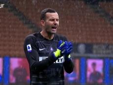 Handanovic raggiunge Facchetti. Dugout