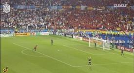 VIDEO: Cesc Fàbregas's historic penalty goal for Spain. DUGOUT