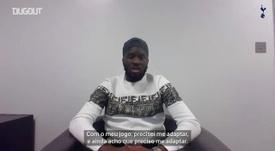 Ndombele fala sobre tudo desde que chegou ao Tottenham. DUGOUT