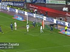 Tres grandes goles del Nápoles en casa ante el Atalanta. Captura/DUGOUT