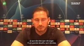 Confira a entrevista com Lampard sobre jogo de hoje contra o Bayern. DUGOUT