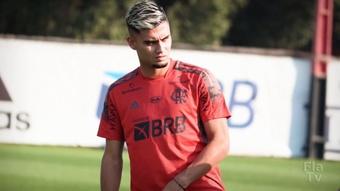 Andreas Pereira faz primeiro treino com elenco do Flamengo. DUGOUT