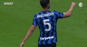 Le reti dell'Inter contro il Pisa. Dugout