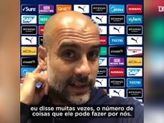 Pep Guardiola comentou o desempenho de Gabriel Jesus. DUGOUT