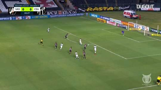 Vasco da Gama were easily beaten 1-4 by Caera in the Brasileirao. DUGOUT