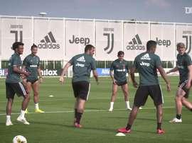 Juventus já trabalha com todo o grupo junto. DUGOUT