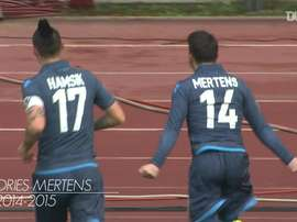 Dries Mertens has scored some brilliant goals for Napoli versus Udinese over the years. DUGOUT