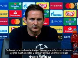 Lampard elogió a Ziyech tras su debut como titular. Captura/Dugout