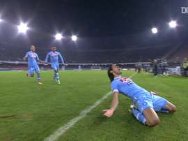 Edinson Cavani got a hat-trick for Napoli v Roma in 2013. DUGOUT
