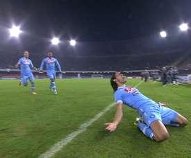 Edinson Cavani got a hat-trick for Napoli v Roma in 2013. DUGOUT