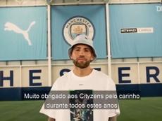 Otamendi se despede do Manchester City depois de cinco anos. DUGOUT