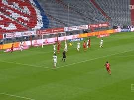 Leon Goretzka put Bayern ahead v Frankfurt. DUGOUT