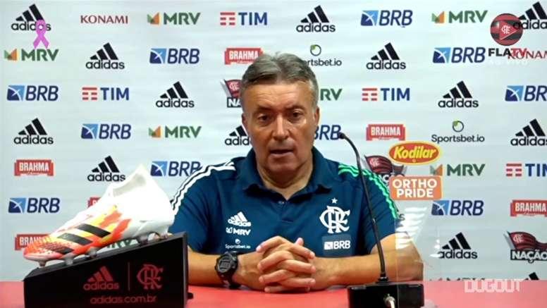 Domènec Torrent após empate no Beira-Rio. DUGOUT