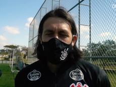 Cássio concedeu entrevista no terceiro dia de trabalhos com bola. DUGOUT