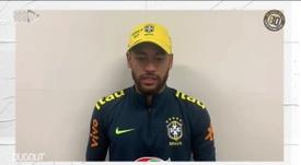 Neymar e ídolos recentes do Santos mandam mensagens a Pelé. DUGOUT