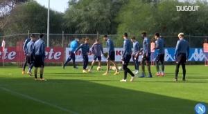 Napoli's last training ahead of Europa League clash against Rijeka. DUGOUT