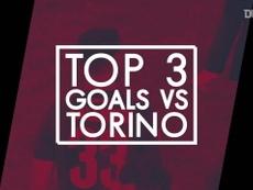 Le migliori tre reti del Bologna contro il Torino. Dugout