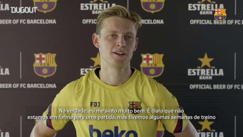 De Jong analisa retorno aos treinos no Barcelona após quarentena. DUGOUT