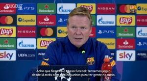 Koeman elogia equipe após vitória do Barcelona. DUGOUT