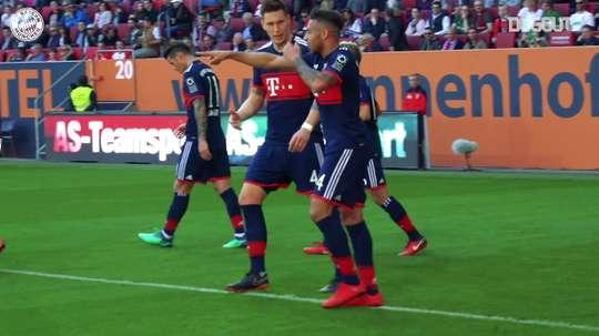 Le Bayern gagne Augsbourg et remporte le titre de Bundesliga en 2018. DUGOUT
